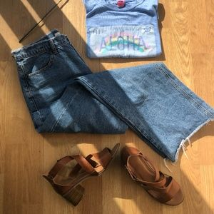 Oak + Fort Raw Hem Jeans